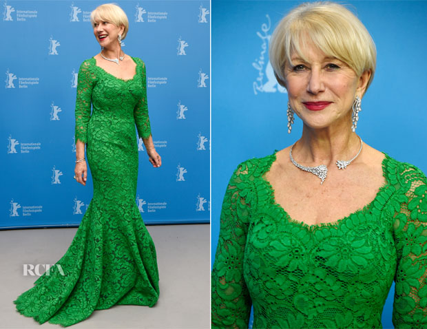 cf04fa11fdd Helen Mirren In Dolce   Gabbana -  Woman in Gold  Berlin Film Festival  Premiere
