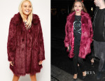 Jade Thirlwall's ASOS Faux Fur Longline Coat
