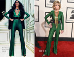 Jane Fonda In Balmain - 2015 Grammy Awards