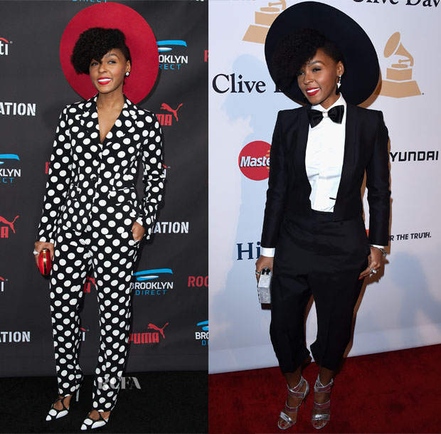 Janelle Monae In Moschino & Dsquared² - Roc Nation Pre-GRAMMY Brunch & Pre-Grammy Gala