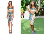 Jasmine Tookes' Nicholas Spring Floral Top & Pencil Skirt