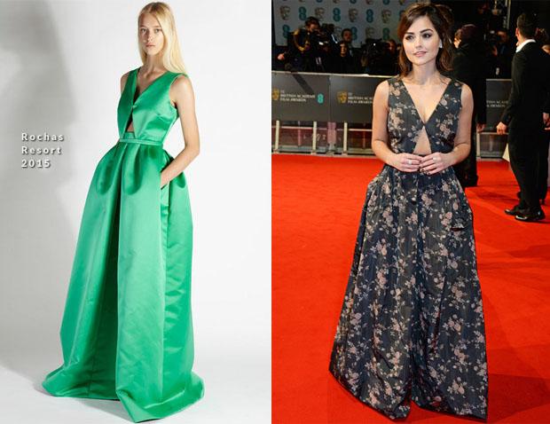 Jenna Coleman In Rochas - 2015 BAFTAs