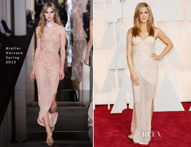 Jennifer Aniston In Atelier Versace - 2015 Oscars