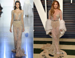Jennifer Lopez In Zuhair Murad Couture - 2015 Vanity Fair Oscar Party