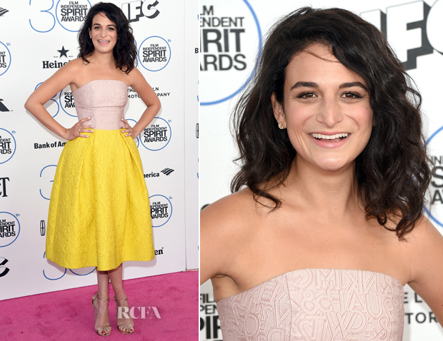 Jenny Slate In Mary Katrantzou - 2015 Film Independent Spirit Awards
