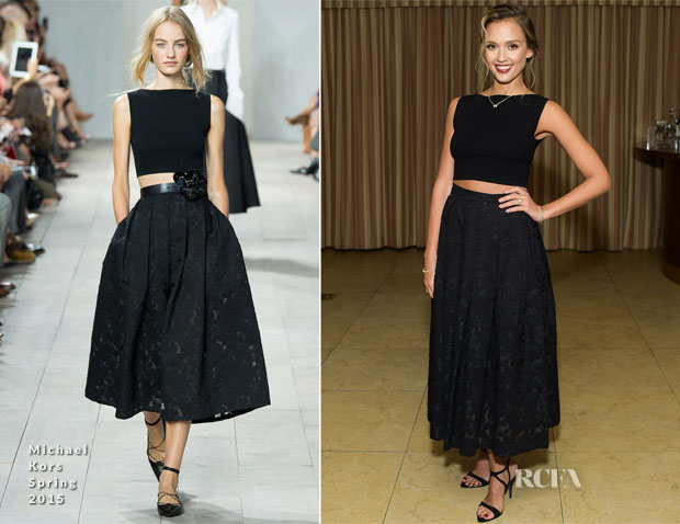 Jessica Alba In Michael Kors - Gilt And (RED) Celebrate The Launch Of Jennifer Meyer xo Jessica Alba