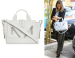 Jessica Alba's Kenzo Kalifornia small rubberised leather tote