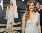 Jessica Chastain In H&M Conscious Collection - 2015 Vanity Fair Oscar Party