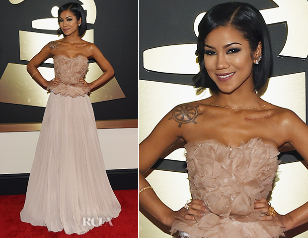 Jhene Aiko In Alberta Ferretti - 2015 Grammy Awards_