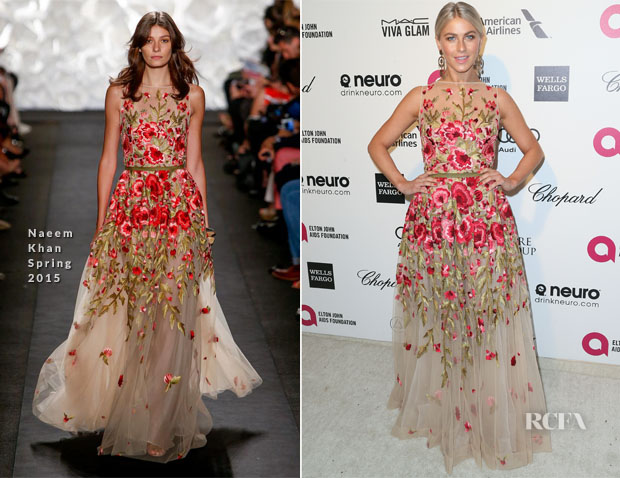 Julianne Hough In Naeem Khan - Elton John's AIDS Foundation's Oscar Viewing Party