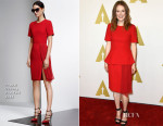 Julianne Moore In Prabal Gurung - 87th Academy Awards Nominee Luncheon
