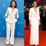 Juliette Binoche In Schiaparelli Couture & Giorgio Armani - 'Nobody Wants the Night' Berlin Film Festival Photocall & Premiere