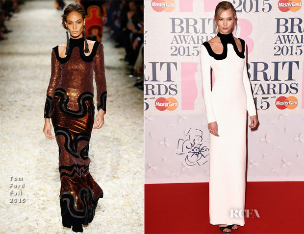 Karlie Kloss In Tom Ford - 2015 BRIT Awards