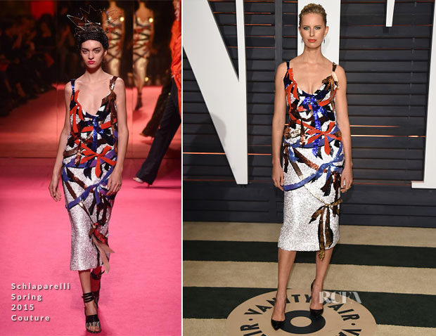 Karolina Kurkova In Schiaparelli Couture - 2015 Vanity Fair Party