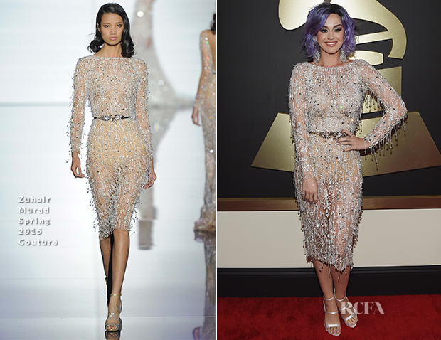 Katy Perry In Zuhair Murad Couture - 2015 Grammy Awards