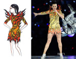 Katy Perry In Jeremy Scott & Moschino - Super Bowl XLIX Halftime Show