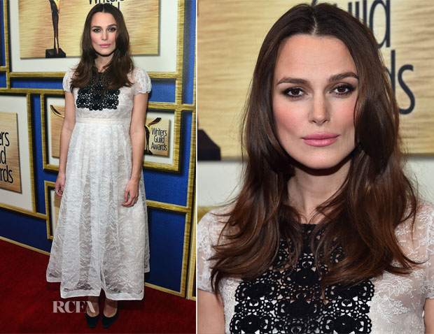 Keira Knightley In Burberry - 2015 Writers Guild Awards LA Ceremony