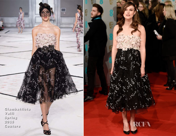 Keira Knightley In Giambattista Valli Couture - 2015 BAFTAs