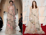 Keira Knightley In Valentino Couture - 2015 Oscars