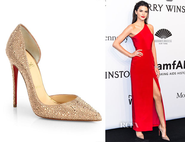 replica louboutin men shoes - Kendall Jenner's Christian Louboutin Iriza Strass Crystal Pumps ...