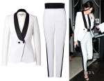 Kendall Jenner's Emilio Pucci Tuxedo blazer and Tuxedo Trousers