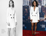 Kerry Washington In Adam Lippes - SNL 40th Anniversary Celebration