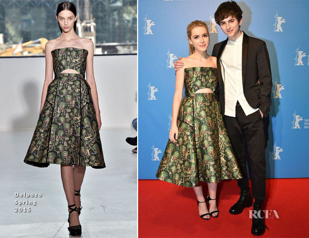 Kiernan Shipka In Delpozo - 'One and Two' Berlin Film Festival Premiere
