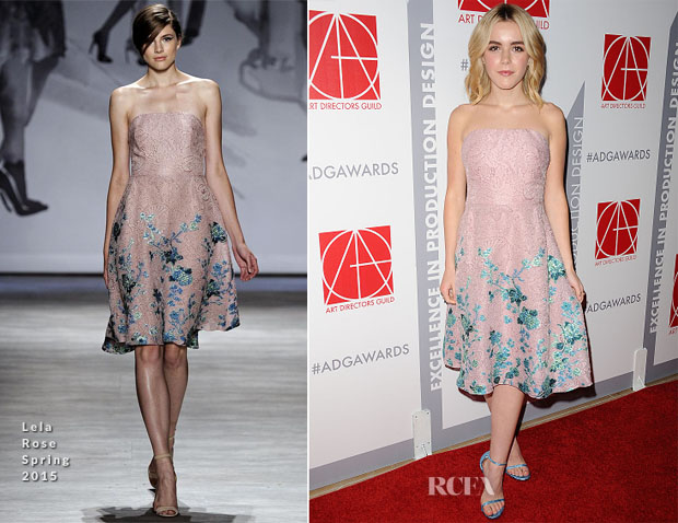 Kiernan Shipka In Lela Rose - 19th Annual Art Directors Guild Excellence In Production Design Awards