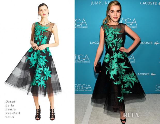 Kiernan Shipka In Oscar De La A 17th Costume Designers Guild Awards