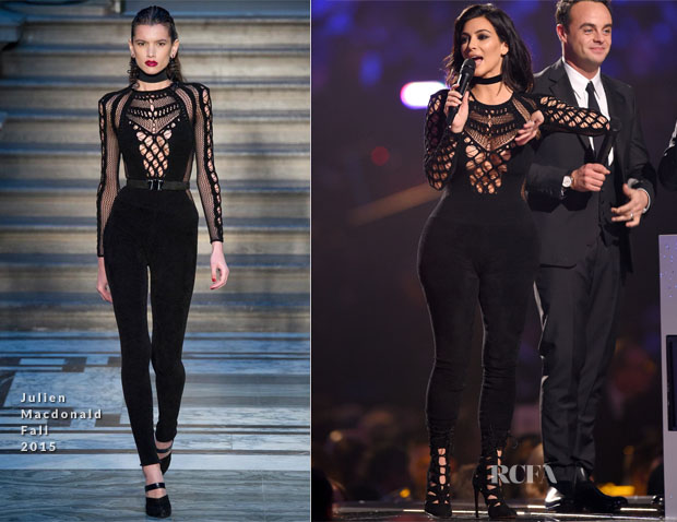 Kim Kardashian In Julien Macdonald - 2015 BRIT Awards