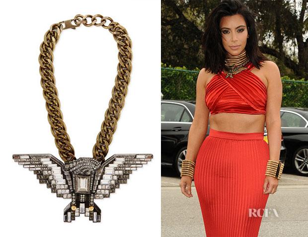 Kim Kardashian's Lanvin Crystal Eagle Necklace
