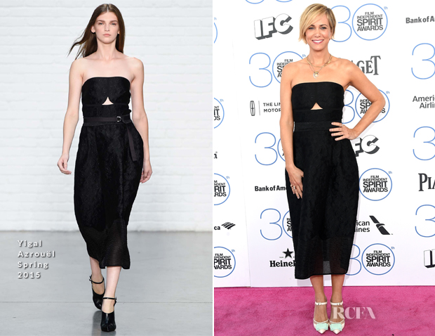 Kristen Wiig In Yigal Azrouël - 2015 Film Independent Spirit Awards