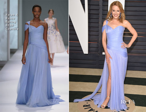Kylie Minogue In Ralph & Russo Couture - 2015 Vanity Fair Oscar Party