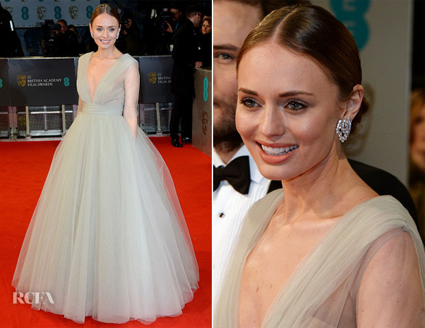 Laura Haddock In Ashi Studio Couture - 2015 BAFTAs
