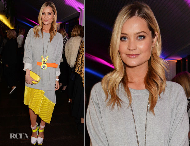 Laura Whitmore In Fyodor Golan - InStyle And EE Rising Star Party