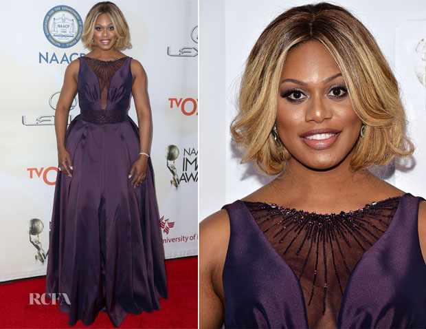 Laverne Cox In Gustavo Cadile - 2015 NAACP Image Awards