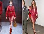 Lily Aldridge In Gucci - Leather and Laces Party