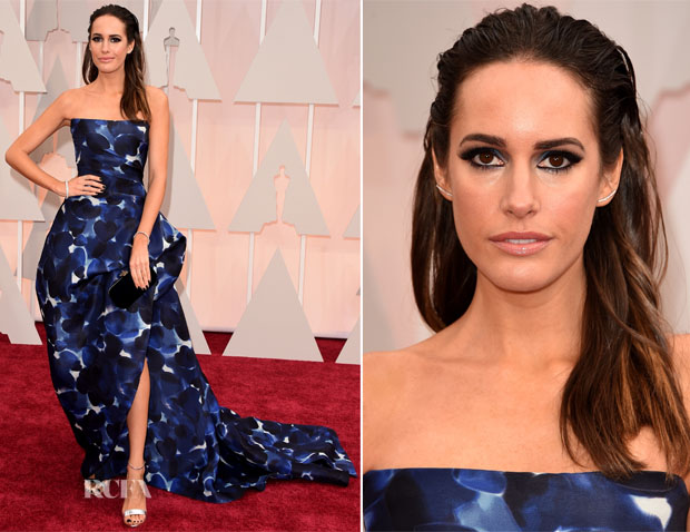 Louise Roe In Monique Lhuillier - 2015 Oscars