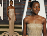 Lupita Nyong'o In Calvin Klein Collection - 2015 Vanity Fair Party