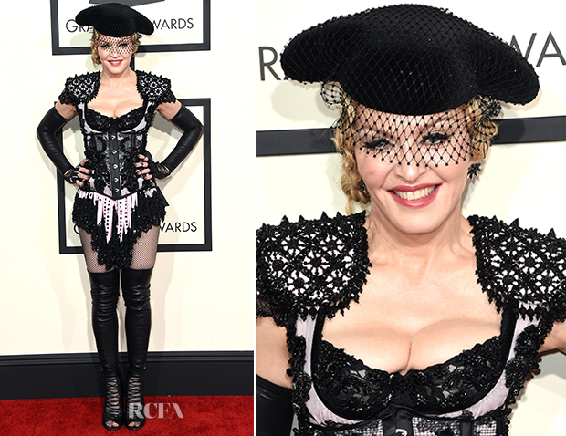 Madonna In Givenchy - 2015 Grammy Awards_