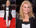 Margot Robbie In Blumarine & Alexander McQueen - 'Focus' London Screening
