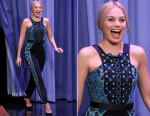 Margot Robbie In Peter Pilotto - The Tonight Show Starring Jimmy Fallon