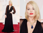 Margot Robbie In Saint Laurent - 2015 Oscars