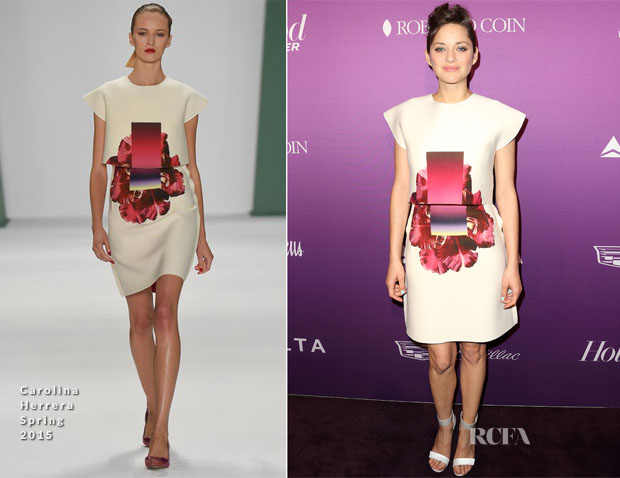 Marion Cotillard In Carolina Herrera - The Hollywood Reporter's Annual Oscar Nominees Night Party