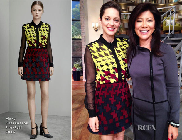 Marion Cotillard In Mary Katrantzou - 'The Talk' and 'Access Hollywood'