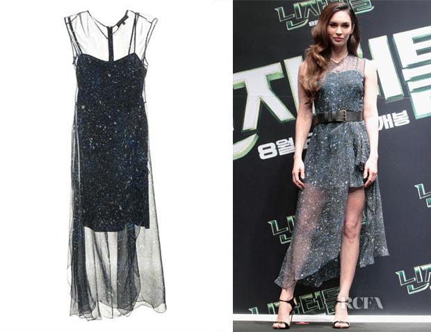 Megan Fox's Jonathan Saunders Marie chiffon dress