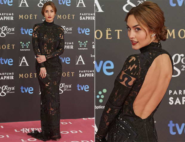Megan Montaner In Emilio Pucci - 2015 Goya Awards