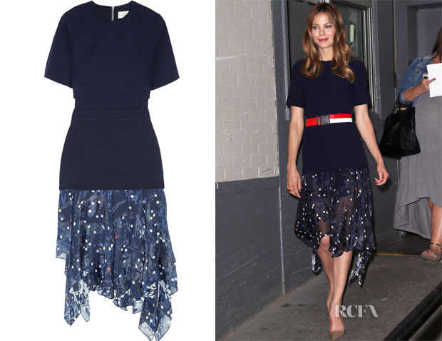 Michelle Monaghan's Preen Bryn stretch-jersey and devoré-chiffon dress