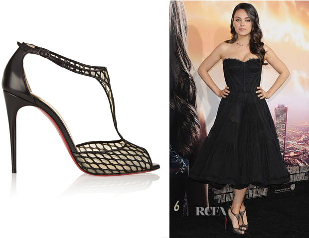 Mila Kunis' Christian Louboutin Tiny 100 Leather and Lace Sandals