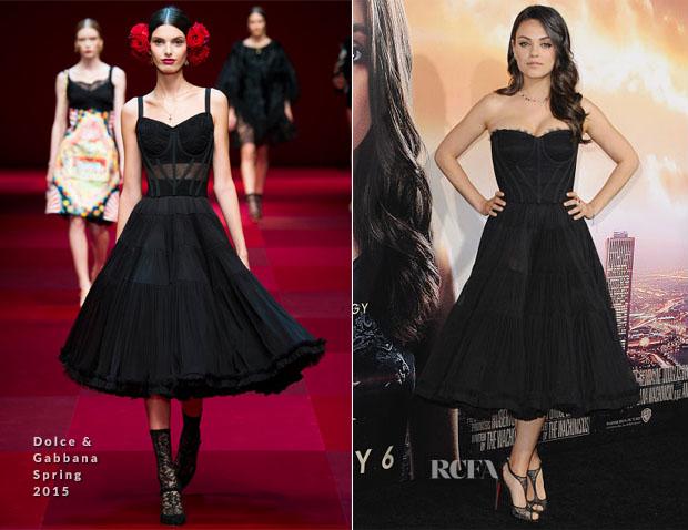 Mila Kunis In Dolce & Gabbana S15 – 'Jupiter Ascending' LA Premiere